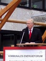 Landrat Robert Fischbach eröffnet das Kommunale Energieforum 2008